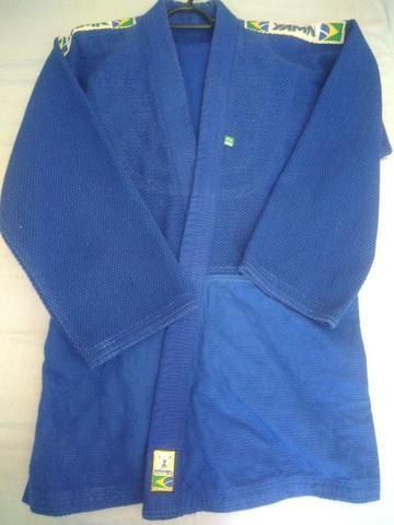 Kimono Trançado Master Azul A2 - Foto 3