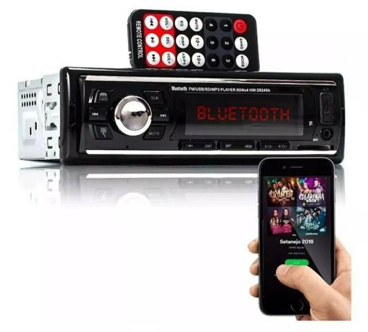 Som automotivo Bluetooth USB frontal rádio