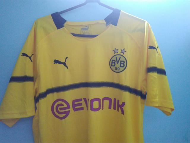 52fa06a486dec Conjunto do Borussia Dortmund 3° uniforme tamanho G - Roupas e ...