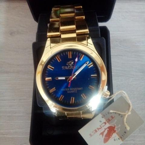 88d78439371 Relógio Tecnet Gold unissex a prova d água (entrega grátis) 3x sem juros