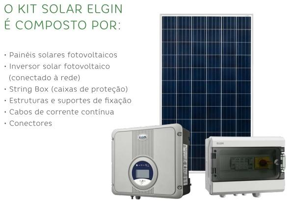 KIT de Energia Solar Elgin 3,7kW