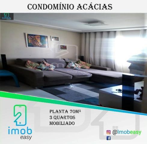 Vendo Condomínio Acácia, 3 quartos, mobiliado