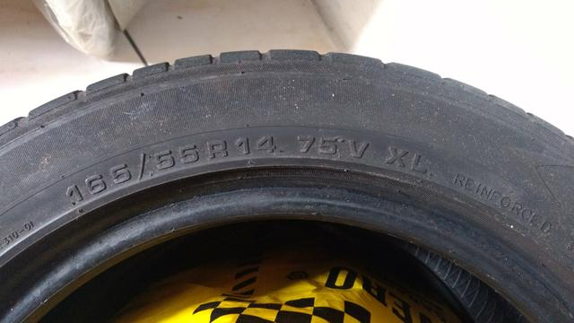 Jogo Cruz de Malta + 2 pneu 165/55/14 - Foto 6