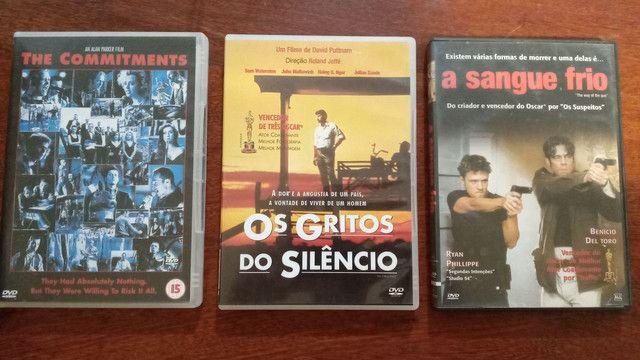 3 Filmes em dvd usados em estado de novo