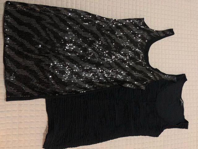 Dupla de vestido tubo preto tam M/40 - Foto 4