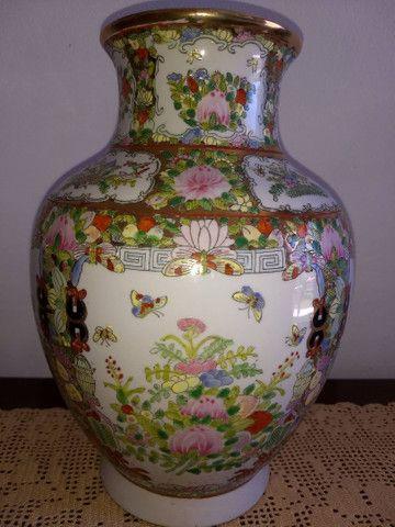 vaso de porcelana chinesa antigo final do século XIX - Foto 3