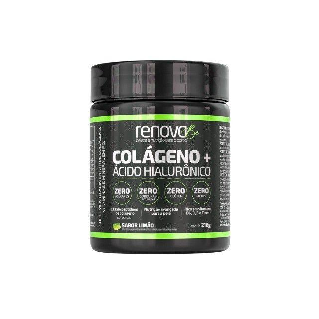 Renova Be Colágeno + Ácido Hialurônico e Vitaminas Para Pele, Sabor Limão e Cranberry  - Foto 2