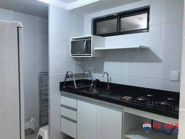 Apartamento com 1 dormitório para alugar, 39 m² por R$ 1.900,00/mês - Cabo Branco - João P - Foto 13