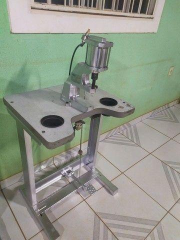 Máquina pregar botão, pneumática - Foto 3