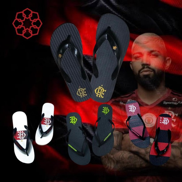 Chinelos do Flamengo