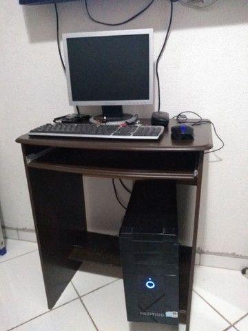 Computador Positivo completo com mesa - Foto 4