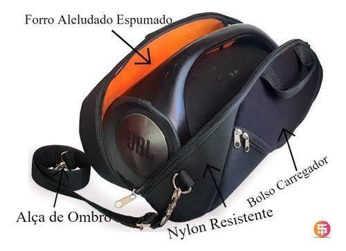 Sem folga Bolsa Boombox 1 ou 2 Case Anti impacto reforçada em veludo resistente à água  - Foto 2