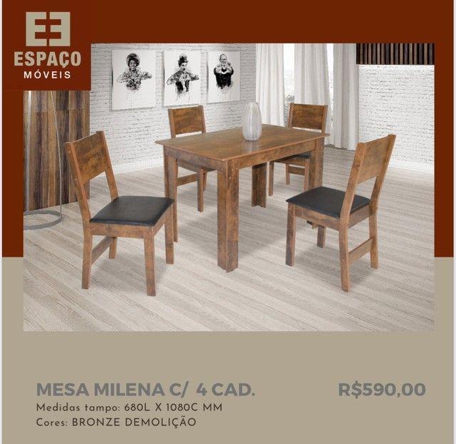 Mesa Milena com 4 Cadeiras em MDF #Entrega e Montagem Grátis  - Foto 2