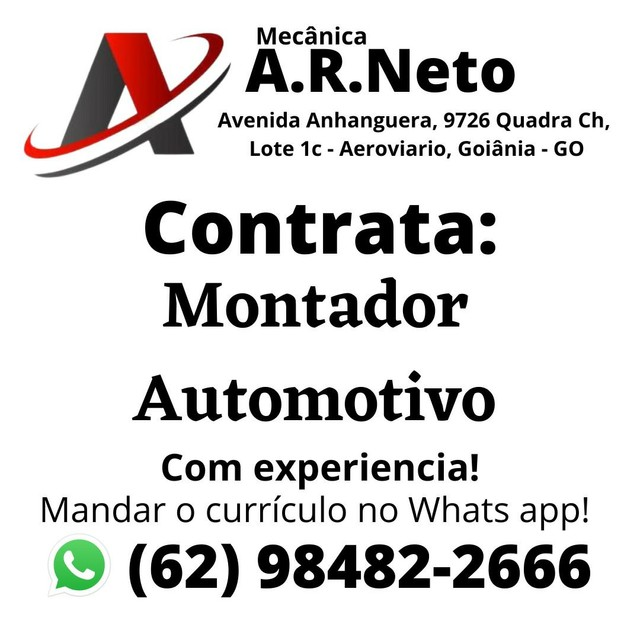 Contrata montador automotivo