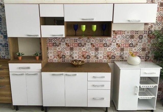 Armário para Cozinha Completo / Cozinha Compacta Com Balcão