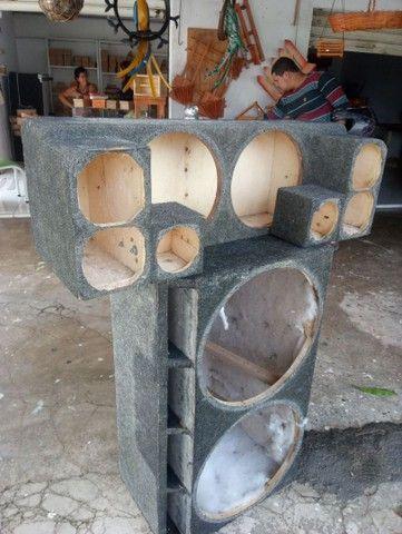 Armaçao de caixa de som