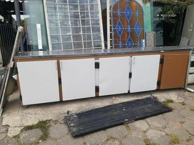 Balcão seco de 5 portas c/tampa de Inox - Foto 2