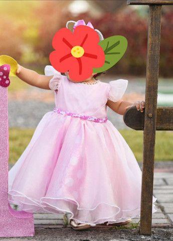 Vestido 1 ano rosa