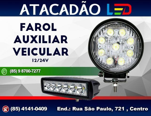 Farol Super LED milha auxiliar