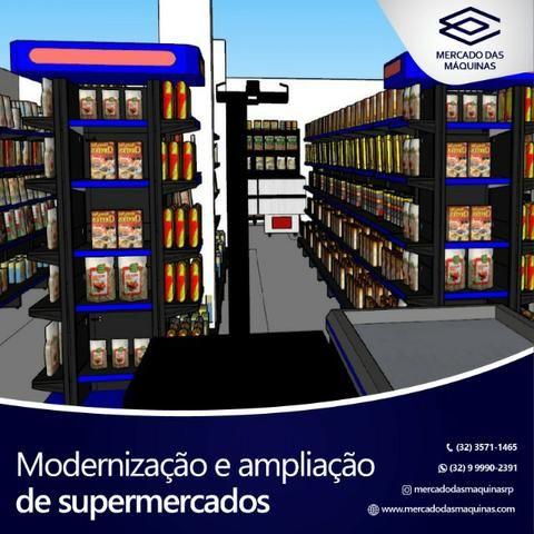 Ampliação e modernização de supermercados - Projeto completo