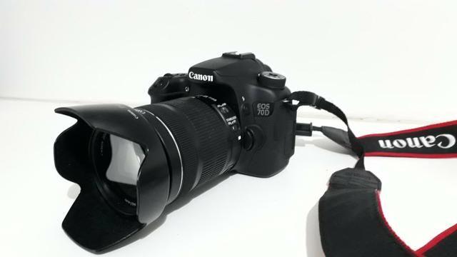 Canon 70 D + 3 lentes e acessorios