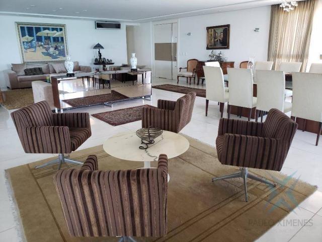 Apartamento alto padrão para alugar, 550 m² por r$ 20.000/mês - meireles - fortaleza/ce - Foto 4
