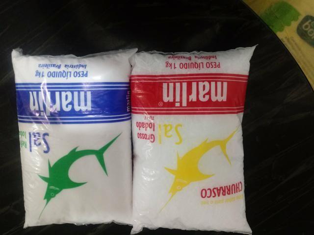 Venda de sal 1.00 real cada kg tanto do fino como do grosso