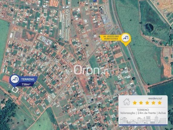 Terreno à venda, 738 m² por R$ 100.000,00 - Residencial Nova Cidade - Nerópolis/GO