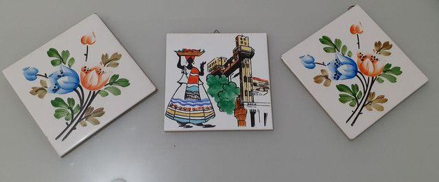 Conjunto de quadros de azulejo