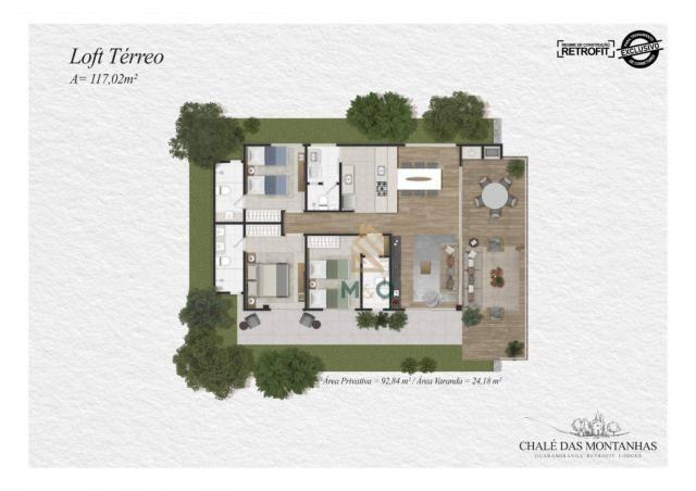 Loft com 3 dormitórios à venda, 138 m² por R$ 1.550.00 - Macapá - Guaramiranga/CE - Foto 8