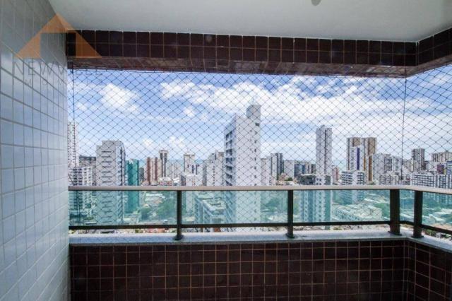 Apartamento com 3 quartos para alugar, 94 m² por R$ 3.785/mês - Boa Viagem - Recife/PE - Foto 4