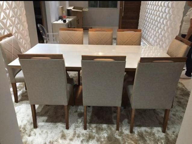 Mesa de jantar Nova Deli oito lugares - Foto 3