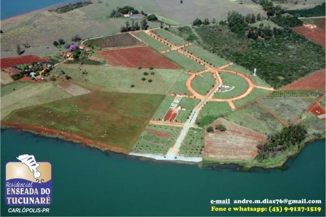 Lote 600m2 - Residencial Enseada do Tucunaré - Carlópolis-PR - Foto 3