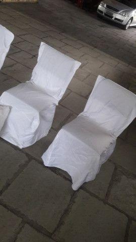 Capas cadeira para eventos e festas-barbada -cor branca -valor: 3,50 a un - Foto 3