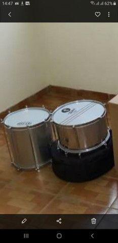 Instrumento Percussão surdo malacacheta repinique - Foto 3
