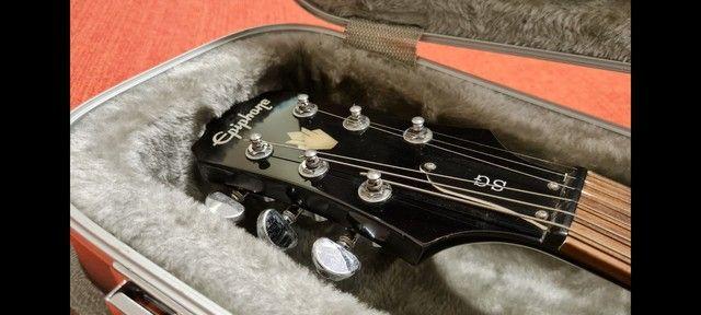 BAIXEI!!  Guitarra EpiPhone Sg G400 + Case Top! - Foto 2