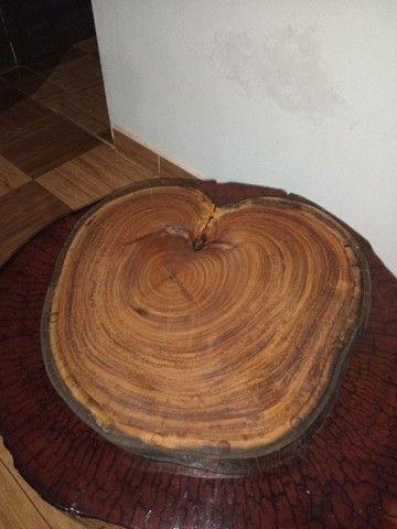 Vendo tábuas de carne rústicas madeira sucupira branca - Foto 2
