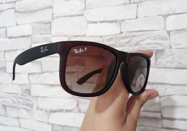Óculos de Sol Ray Ban Masculino Esportivo Modelo Justin