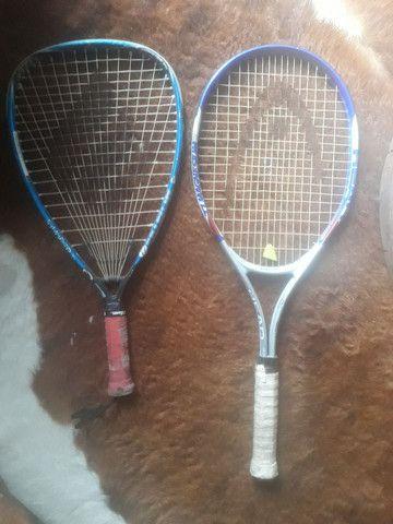 1 Raquete tênis Head  1 raquete Wilson