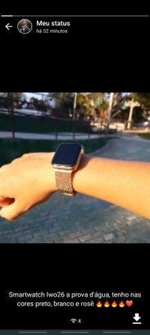 Kit SmartWatch Iwo 26 Lite + Pulseira milanesa extra + película protetora para a tela. - Foto 6