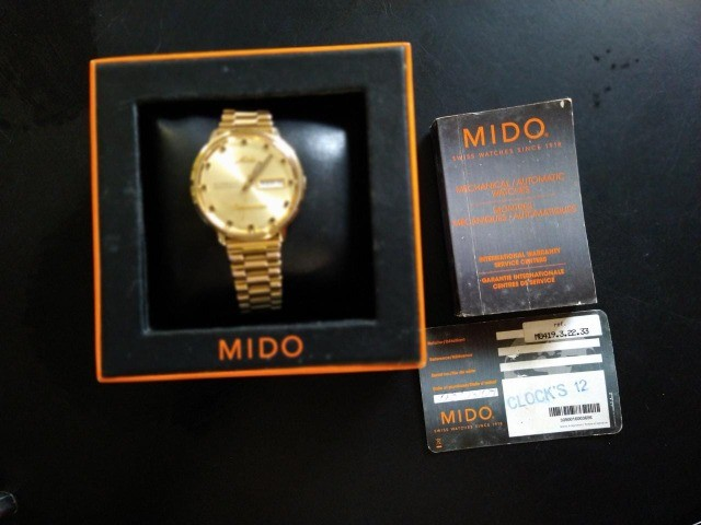 Relógio Mido Commander banhado à ouro - Foto 2