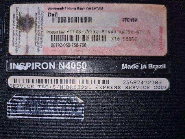 Notebook Dell Inspiron N4050 usado - Foto 3