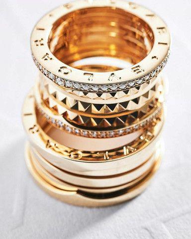 Par de Alianças bvlgari com diamantes naturais em ouro 18k  - Foto 2