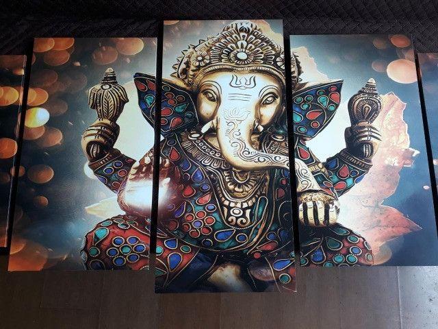 Quadro decorativo Lord Ganesha Deus 154x65 - Grande - Foto 2