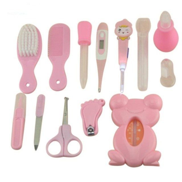 Kit De Higiene 13 Peças Cuidados De Saúde Bebê Recém Nascido Rosa - Foto 3