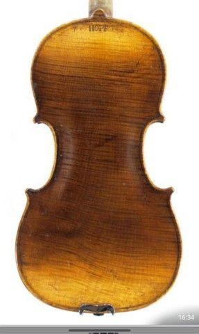 Violino antigo de autor Hopf  - Foto 2