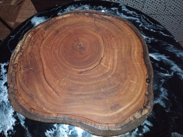 Vendo tábuas de carne rústicas madeira sucupira branca - Foto 4