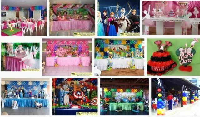 Decoração infantil predominando a cor rosa - delicadeza na festa das meninas