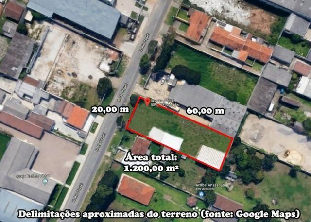 Terreno no bairro Weissópolis - 1.200m² - Rua Rio Piquiri - Pinhais