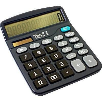 Calculadora De Mesa 1200 Spiral Digit Fonte Bateria E Solar - Vendo Lote